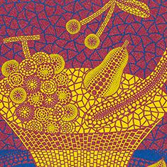 草間弥生「果物かご(2)」1999年