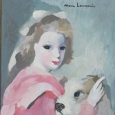 ローランサン 「少女と犬」